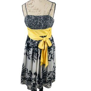 Max and Cleo Black White Yellow Sundress NEW Sz 4